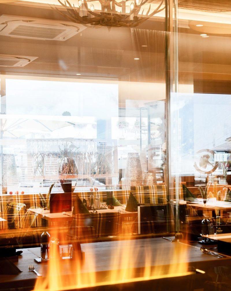 Restaurant Innenansicht Glas